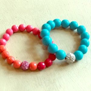 Girls Stella & Dot Turquoise and Coral Bracelets